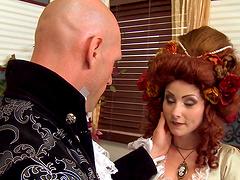 Redhead slut Veruca James opens her legs to be fucked hard
