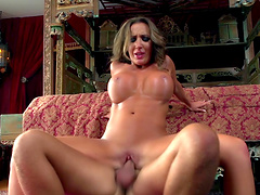 Cum loving wife Richelle Ryan fucked and swallows all of his jizz