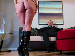 Horny wife Aaliyah Love plays with a vibrator and gets a real deal!