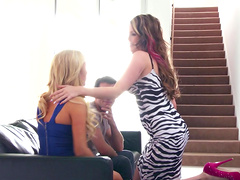 Two sluts take care of one large dick - Courtney Cummz and Tasha Reign