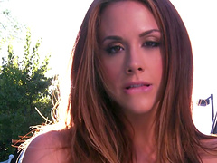 Pussy and ass fucking by the pool with Chanel Preston and Eva Angelina