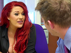 Office sex on the table and floor with secretary Paige Delight