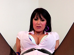 Cheating wife Eva Karere in stockings rides her lover and moans