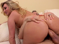 Balls deep ass and puss pounding with blonde housewife AJ Applegate