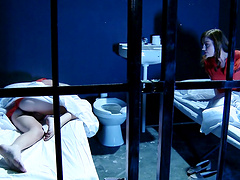Lesbian sex in the prison between Kiara Diane and Sovereign Syre
