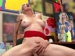 Hardcore sex with tit fucking ends with a facial for Emma Starr