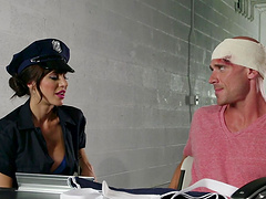 Gia Dimarco is a chick in uniform ready to fuck hard