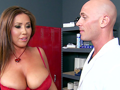 Big breasted brunette Kianna Dior in curious about a fat dick