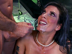 Shay Sights has a great time while being a part of a gangbang game