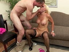 Amazing sex session with hot blonde Rhylee Richards