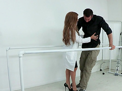 Amy Brooke opens her legs for a handsome stud's cock