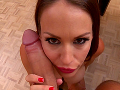 Wife McKenzie Lee gives a blowjob in POV and rides her lover