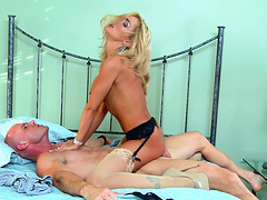 Crazy fucking in the morning with blonde pornstar Devon and her lover