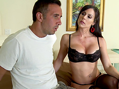 Sugar Mommy Kendra Lust in stockings having sex with her lover