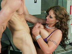Busty pornstar Eva Notty used and abused by her big dick boss