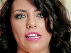 Gangbang sex with the slutty brunette Adriana Chechik