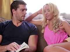 Amazing sex with the beautiful blonde babe Tucker Starr