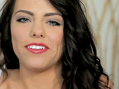 Adriana Chechik is fucked hard by a big cock as you hear her moan