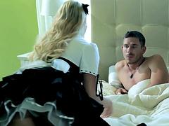 Sexy maid Mia Malkova is fucked by her boss