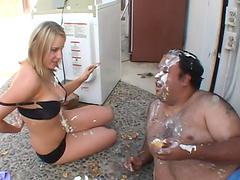 Hot ass blondie Cassidy Blue moans during sex with a fat man